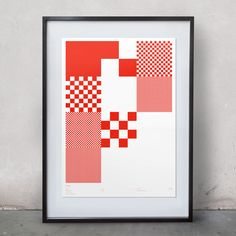 Limited Edition screen print by designer Greig Anderson. Bold, geometric shapes make this print stand out on any wall. Brighten up your room! Poster Design, Print Design, Graphic Design, Glasgow, Pixel Image, Geometric Shapes, Geometric Patterns, Pixel Art, Poster Prints
