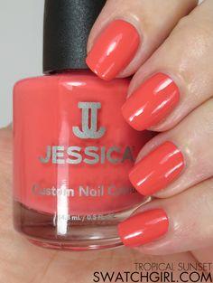 swatchgirl.com - Jessica Tropical Sunset #nailpolish