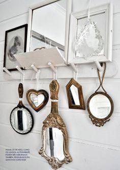 Mirrored accessories. #hall #details #interior #design #decor #casadevalentina