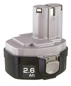 "Makita 193158-3 14.4 Volt Battery 1434 Ni-MH > 14-2/5-Volt Ni-MH pod-style battery, 2.6-Ah Fits all Makita 14-2/5-Volt cordless tools; no ""memory"" effect Rugged plastic exterior; nickel-metal hydride battery runs up to 70-Percent longer than Ni-Cad batteries Check more at http://farmgardensuperstore.com/product/makita-193158-3-14-4-volt-battery-1434-ni-mh/"