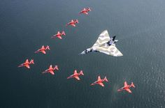 See what the Red Arrows and Vulcan flypast looked like from the cockpit