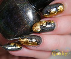Gold Foils Nail Art - foils from Charlie's Nail Art where code PQU10 will give you 10% off your order