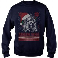 YORKSHIRE TERRIER  Ugly Christmas Sweater and Long Sleeve Tshirt  LIMITED TIME ONLY. ORDER NOW if you like, Item Not Sold Anywhere Else. Amazing for you or gift for your family members and your friends. Thank you! #yorkshire #terrier #shirts #dogs #pets #animal