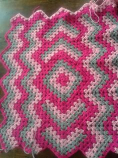 Crochet blanket. Drop in the pond afghan. Still in progress.