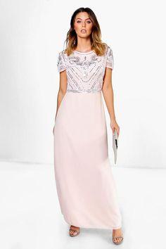 Boutique Francesca Embellished Top Maxi Dress $47