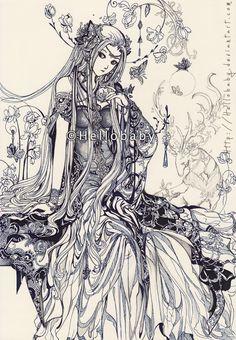 A lady by Hellobaby.deviantart.com on @deviantART