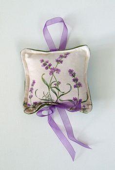 Lavender Sachet 6x6 Green Velvet backing to by jenniferrashleigh, $22.00