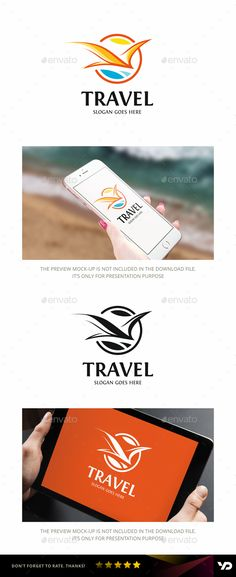 Travel Logo — Vector EPS #voyage #sunny • Available here → https://graphicriver.net/item/travel-logo/18818559?ref=pxcr