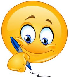 Writing Smiley send a note or letter to a friend let them know your thinking of them.