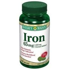 Natures Bounty Iron 65 mg Buy Online at lowest price in India: BigChemist.com
