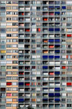 Neighborhood by Eric Kala Forey, via Form and Structure Urbane Fotografie, Foto Art, Facade Architecture, Architecture Images, Urban Photography, Brutalist, Urban Landscape, New Wall, Exterior