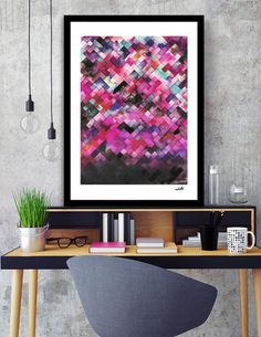 Discover «Red moody geometry», Limited Edition Fine Art Print by Ninola - From 27€ - Curioos