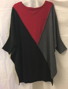 293bc41e5fba0 Style  amp  Co. Women s Sweater 3X Black Color Block Dolman Sleeve Pullover  Tunic   · Plus Size ...