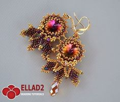 Cleo Earrings Beautiful and elegant that will most certainly get you noticed. Eary and fun to make. You will find yourself making these amazing earrings in several colors, with or without drop beads... A basic knowledge of peyote stitch is ...
