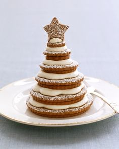 Gingerbread-Cookie Trees for #Christmas - Martha Stewart Recipes