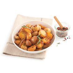Pommes de terre grelots à l'érable - Je Cuisine Potato Recipes, Dog Food Recipes, Dessert Recipes, Caponata, Confort Food, Vegetable Salad, Pretzel Bites, Tofu, Potato Salad