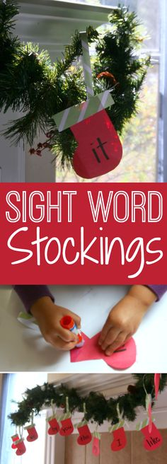 Christmas Themed Sight Word Activity from The Educators' Spin On It. Create a playful way to practice sight words at home this holiday season.