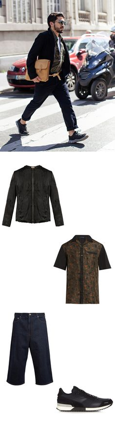 Tap into this season's utility trend with a zip-up bomber. By Walid offers an…
