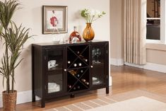 Kings Brand Espresso Finish Wood Wine Rack Console Sideboard Table With Storage. For wine enthusiasts, this Wine Cabinet is a stylish piece of furniture to house your collection of everyday and fine-vintage bottles. This unit features an open storage compartment where you can place wine bottles... more details available at https://furniture.bestselleroutlets.com/game-recreation-room-furniture/home-bar-furniture/bar-wine-cabinets/wine-cabinets/product-review-for-kings-brand-fu