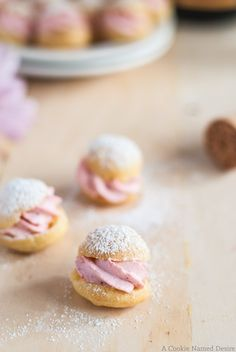 strawberry-profiteroles