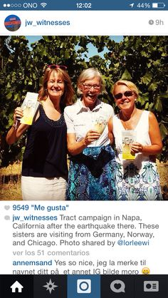 Tract campaign after the earthquake in Napa, CALIFORNIA