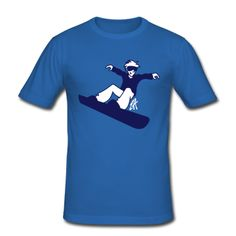 Snowboarder auf Wintersporturlaub. T-Shirt. #Spreadshirt #Cardvibes #Tekenaartje #Winter #Wintersports