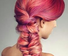 #pinkfishtail #fishtailbraid #pretty #hairstyles
