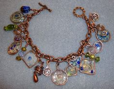 Super cool resin and wire work charms