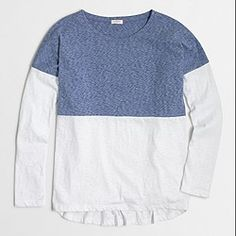 Factory colorblock shirt in airy cotton
