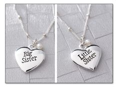 Little sister, big sister necklaces!