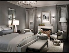 Nice Transitional Master Bedroom Best Transitional Bedroom Design Ideas Remodel Pictures Houzz in Home Interior Design Reference Gray Bedroom, Master Bedroom Design, Bedroom Colors, Home Bedroom, Bedroom Designs, Grey Room, Bedroom Furniture, Master Bedrooms, Bedroom Photos