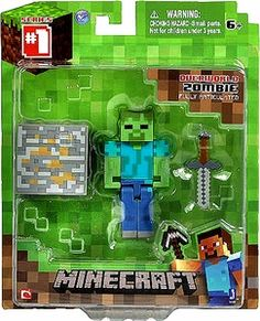 From the hit video game, Minecraft, bring home the Zombie action figure pack. Collect all Series Minecraft action figures. Minecraft Hama, Minecraft Party, Minecraft Wither, Minecraft Stuff, Toys For Boys, Games For Kids, Kid Games, Minecraft Action Figures, Dreams