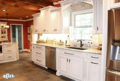 Better After — the best of your before and afters-  tile by window and wood built up above window.
