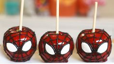 How To Make Spider-Man candy apples
