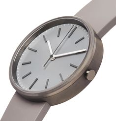 Uniform Wares Precidrive Stainless Steel And Rubber Watch In Gray Uniform Wares, Rubber Watches, Lens, Quartz, Stainless Steel, Mens Fashion, Gray, Crystals, Leather