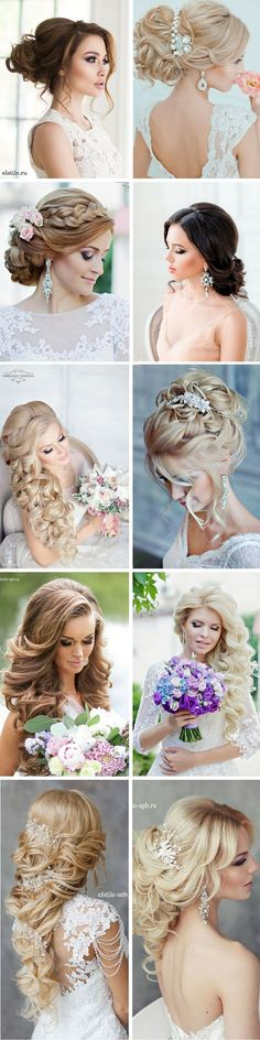 27 Stunning Summer Wedding Hairstyles ❤ Summer wedding hairstyles are different, because brides have many options for long hair or medium hair. See more: http://www.weddingforward.com/summer-wedding-hairstyles/ #weddings #hairstyles