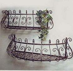 """Curved Window Boxes 29"""" & 26"""" Set 2 Brown finish americana-r-us"""