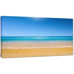 "DesignArt 'Dark View of Tropical Beach' Photographic Print on Wrapped Canvas Size: 28"" H x 60"" W x 1.5"" D"