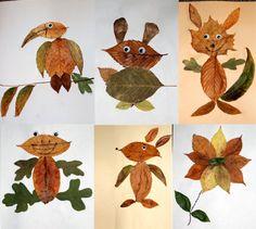 craft-din-frunze-uscate-de-toamna-02 Autumn Leaves Craft, Autumn Crafts, Autumn Art, Nature Crafts, Easy Crafts For Kids, Toddler Crafts, Preschool Crafts, Art For Kids, Halloween Activities