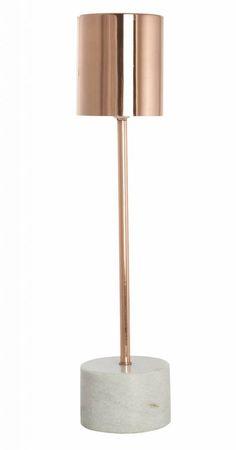Housedoctor Lampe de table en marbre faite de métal et de marbre, le cuivre, 10,5 xH50cm