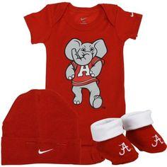 Nike Alabama Crimson Tide Newborn 3-Piece Box Set - Crimson