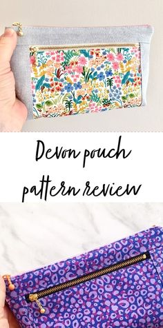 Charm Quilt, Pouch Pattern, Top Stitching, Step By Step Instructions, Devon, Dressmaking, Quilt Patterns, Sewing Projects, Applique