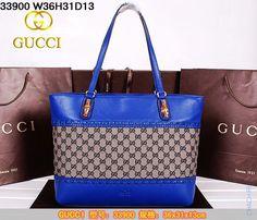 Сумка Gucci кожаная синяя, удобно носить на плече