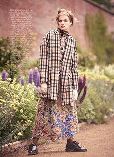 visual optimism; fashion editorials, shows, campaigns & more!: the country girl: elinor weedon by tom allen for uk harper's bazaar october 2... love the SKIRT