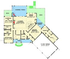 Striking Mountain House Plan with Options - 25621GE | Architectural Designs - House Plans