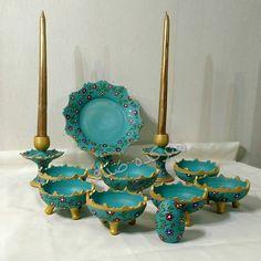 #هفتسین #سفال #نقطه_کوب #سفارش #فروش #هنر #رشت #مطهری #هنرکده_صدف # Persian, Easter, Clay, Events, Ceramics, Drawings, Ideas, Art, Clays