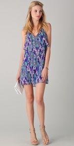 rory beca -- pesha halter ruffle dress