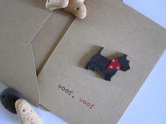 scottie dog card - black. Need to find a big dog shape instead
