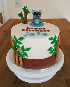 A Koala bear with glasses Koala bear theme birthday cake