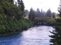 At Huka Falls, Taupo.